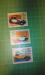 ベトナム自動車切手3種類(1980年代後半)♪