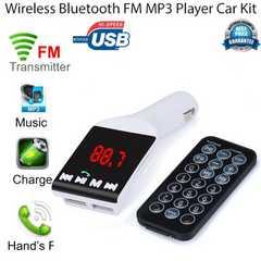 高音質 Bluetooth FMトランスミッター ハンズフリーUSB二台充電