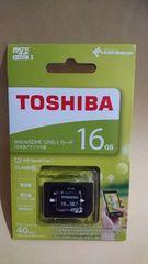 新品TOSHIBAmicroSDHC16GB