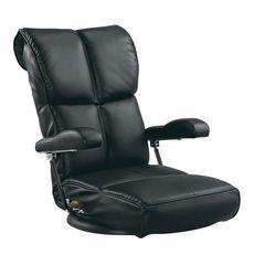 スーパーソフトレザー座椅子 ブラック YS-C1367HR_BK
