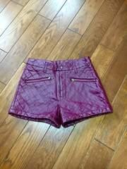 【美品】ブラウン◆柔らかレザー◆スタイリッシュショートパンツ