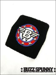 BUZZSPUNKY(バズスパンキー)Bエンブレムリストバンド/黒