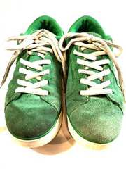 DC SHOES■本革レザースニーカー■ディーシー■グリーン■緑