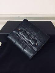 1円 ◆正規品◆ 超美品 シャネル キャビアスキン レザー 財布 黒