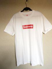 白M supreme box logo シュプリームボックスロゴTシャツ
