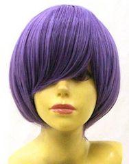 即納☆耐熱☆即決 フルウィッグ ショートボブ2 紫/パープル L5