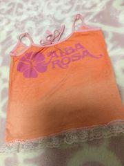 ALBA ROSA/アルバローザ★ロゴ入りキャミソール裾レースオレンジ
