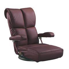 スーパーソフトレザー座椅子 ワインレッド YS-C1367HR_WIN