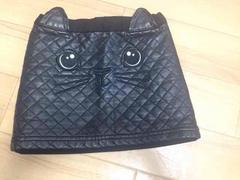 H&M 猫ちゃんフェイクレザータイトスカート