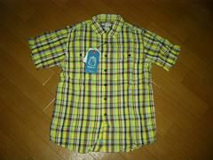 新品KATO'カトー半袖チェックシャツS黄色系定価半額以下