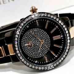 新品・未使用【専用箱付】SK【ジルコニア】美しい輝き放つ 腕時計