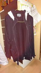 2〜3回着用品.中古品.黒色.スウェット.パーカーLLサイズ。
