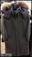 新品 定価3.2万☆ ティノラス ファー付き スタンドカラー ロングコート Sサイズ