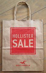 【HOLLISTER★ショップ袋】USA♪ギフト♪ホリスター♪プレゼント