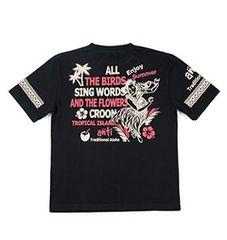 新作/anti/Tシャツ/黒/L/ATT-144/エフ商会/テッドマン/サンサーフ/ハワイアン