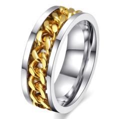 新品1円〜★送料無料★ 20号 K24ゴールド チェーン鎖網リング 指輪