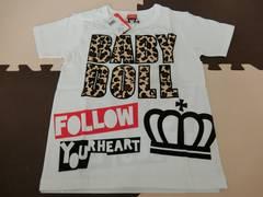 ♪新品 BABYDOLL ヒョウ柄ワッペンTシャツ 150�p♪