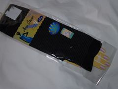 UVグローブ手袋ボーダー黒セミロング新品ポリエステル婦人