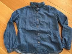 美品!おしゃれ!ユニクロ 女の子 デニム風シャツ 130