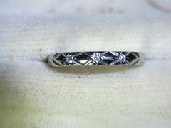 シャネル・PT950・マトラッセ・3Pダイヤモンドリングです^^
