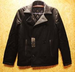 ◆GANNERO◆ジャンネロ・プレミアムヘビーメルトンPコート黒・M