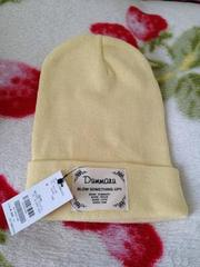 定価1944円◆Dummaru◆パステル コットン ニット帽◆イエロー