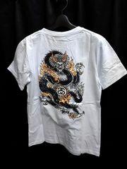 XL入荷★新品STUSSYステューシー★バックデザイン龍ドラゴンTシャツ白ホワイト