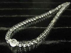 高級パワーストーン 五本爪皇帝龍本水晶×本水晶クリスタルネックレス
