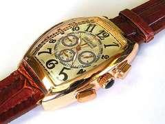 【在庫処分】新品☆ClubFaceブランド☆メンズ腕時計ブラウン