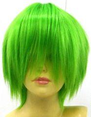 即納可能★即決★フルウィッグ ショートボブ 緑/グリーン L3