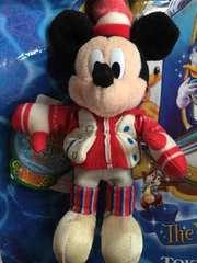 2009 クリスマス ぬいぐるみバッジ ミッキー スケート ランド