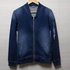 SALEインディゴカットデニムMA-1ジャケット/NAVY/M