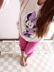 ☆愛用品☆ミニーちゃんのピンクスウェット☆お部屋着にも☆