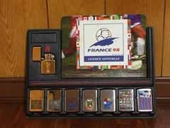 サッカーワールドカップフランス大会記念ジッポライターセット