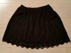 ●H&M●ブラックレーススカート/size34