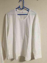 メンズ 長袖Tシャツ ホワイト 3L 新品タグなし