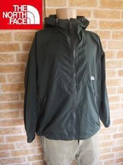【激渋カラー】ノースフェイス「コンパクトジャケット」深緑×白刺繍M♪マンテンパーカー