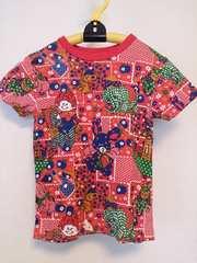 グラグラ サイズ6 パッチワーク半袖 T シャツ赤