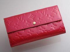 G4878K 本物 FRANCE製 ヴィトン ヴェルニ サラ 二つ折 長財布