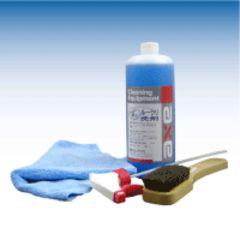 車内のクリーニングにお得3点セット 洗浄剤 ブラシ ウェス ガン
