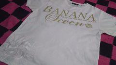 古着『バナナセブン☆BANANA*SEVEN刺繍半袖Tシャツ』