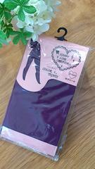 未使用パッケージ入*カラータイツ 80デニール Mサイズ パープル/紫