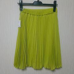 ラスト 新品 上品 プリーツ スカート M