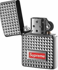 17aw Supreme diamond cut zippo ジッポ Box Logo