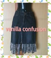 vanilla confusion☆裾レース♪デニムスカート(*^^*)size36