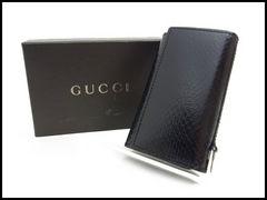 GUCCI グッチ 型押しレザー 6連キーケース  黒 美品