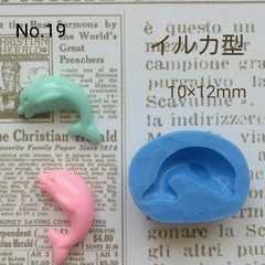 デコ型◆イルカ◆ブルーミックス・レジン・粘土