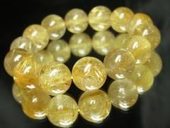 最高級パワーストーン??金針水晶タイチンルチル16ミリ数珠ブレスレット