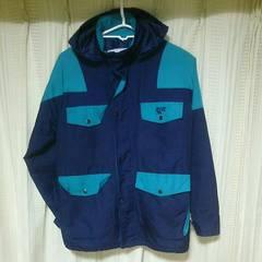 HI-TECマウンテンパーカーMサイズ紺色青緑ハイテックアウトドア古着屋中古アウタージャケット