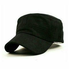男女兼用 シンプル 帽子 ワークキャップ フリーサイズ ブラック